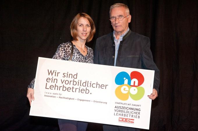 Überreichung des INEO-Awards an Wielach
